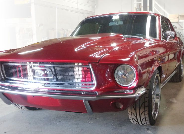 Classic Mustang with Ceramic Paint