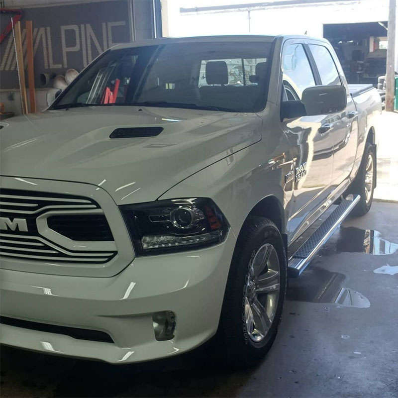 Dodge ram with paint protection film