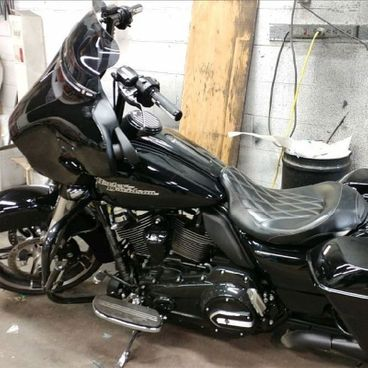 Harley Davidson with paint protection film