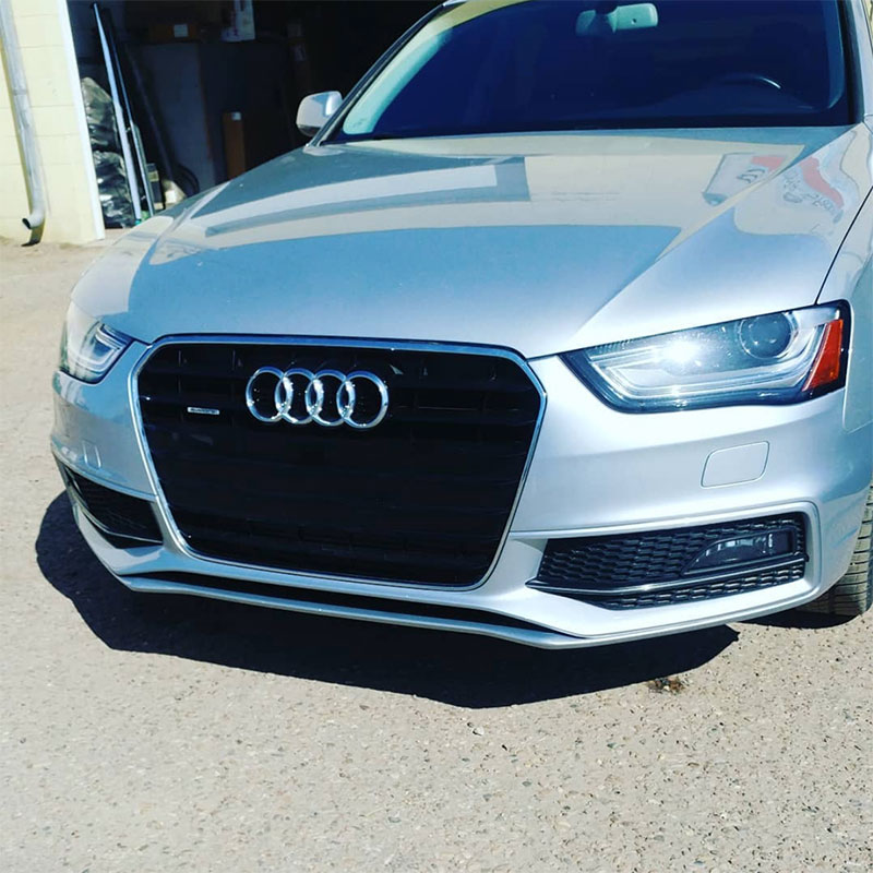 Audi with with paint protection film