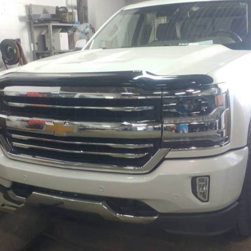 Chevy truck with paint protection film