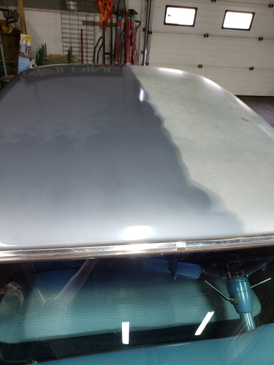 exterior detailing and polishing of automotive car part