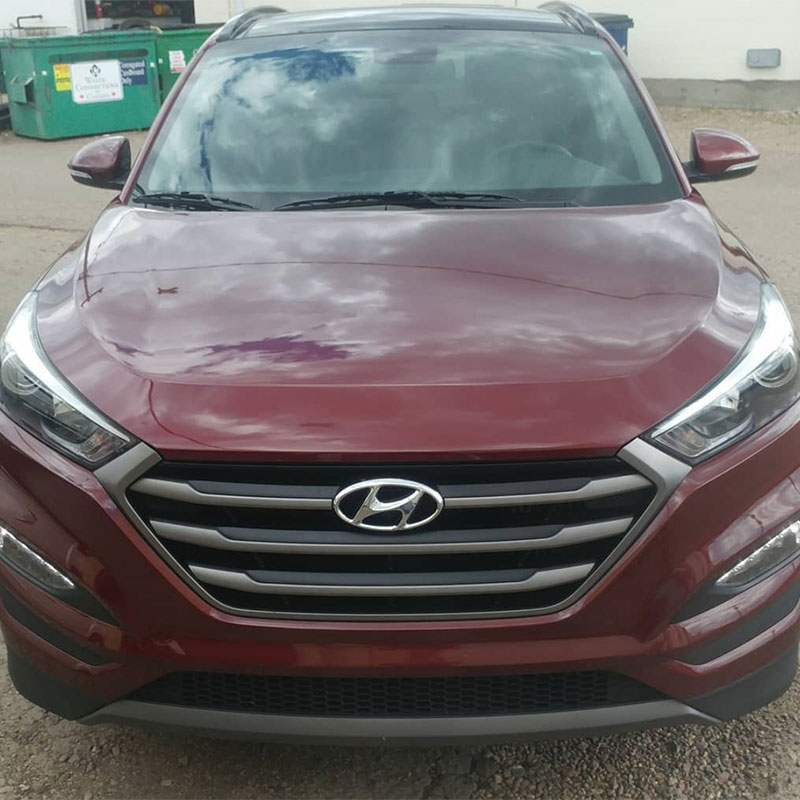 Red Hyundai