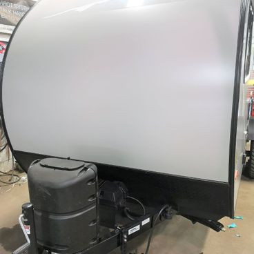 Trailer with paint protection film